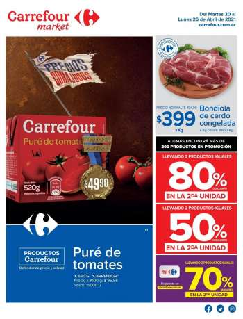 Folleto actual Carrefour Market - 20.4.2021 - 26.4.2021.