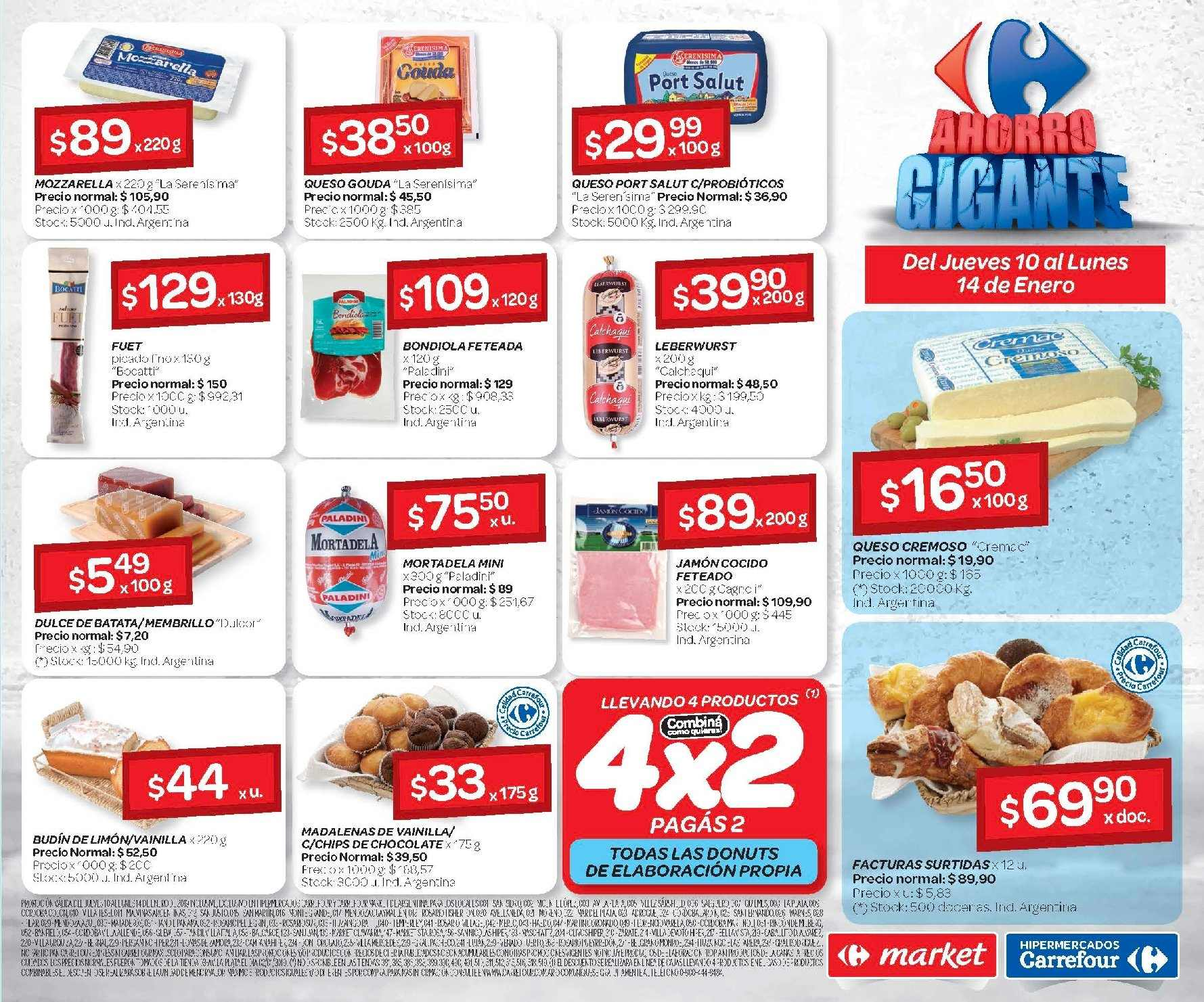 Folleto actual Carrefour - 10.1.2019 - 14.1.2019 - Ventas - queso ed1ab10bb036
