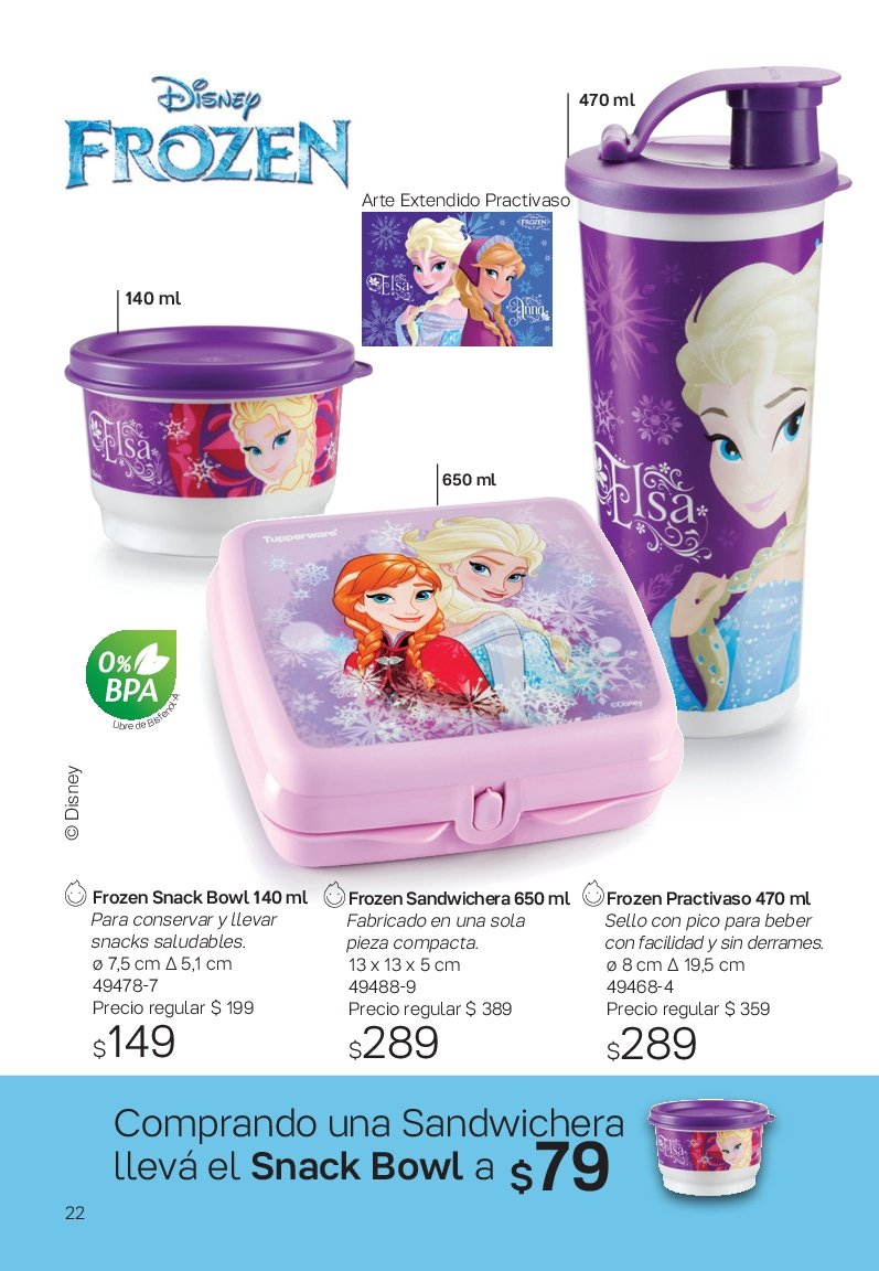 Folleto actual Tupperware - Ventas - frozen, snack, snacks, practivaso. Página 22.