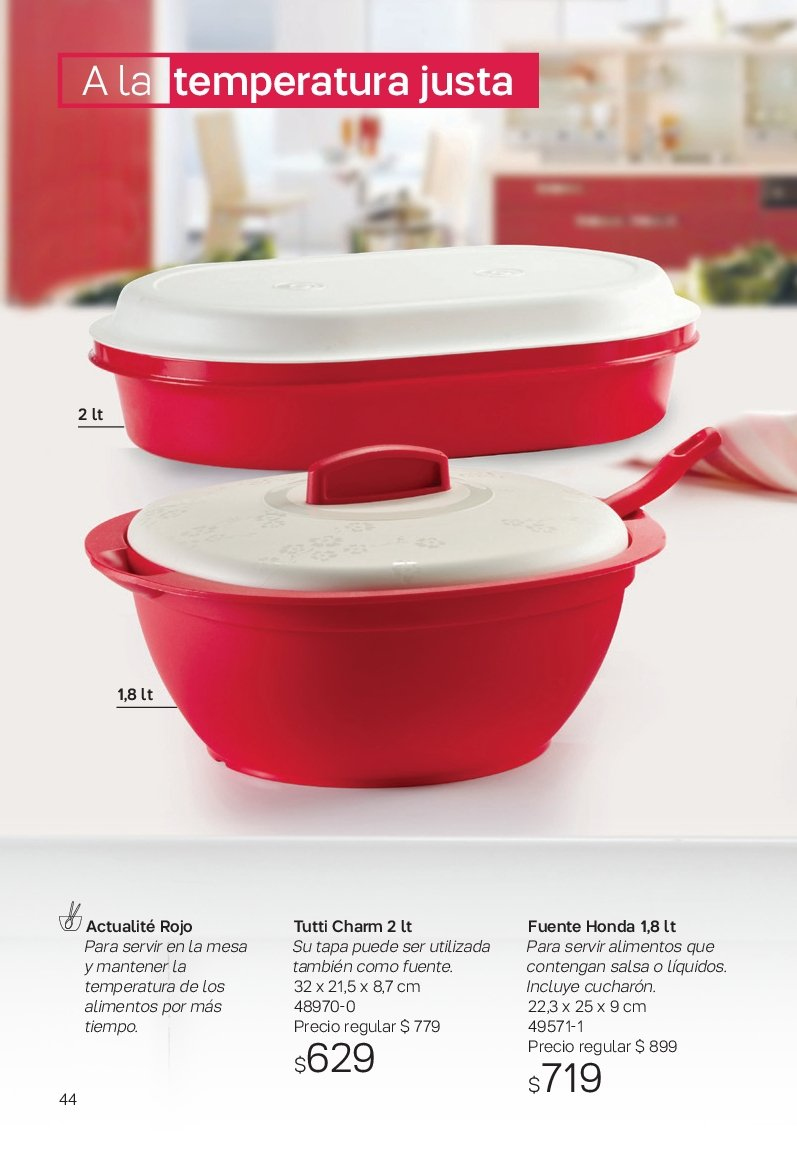 Folleto actual Tupperware - Ventas - salsa, mesa. Página 44.