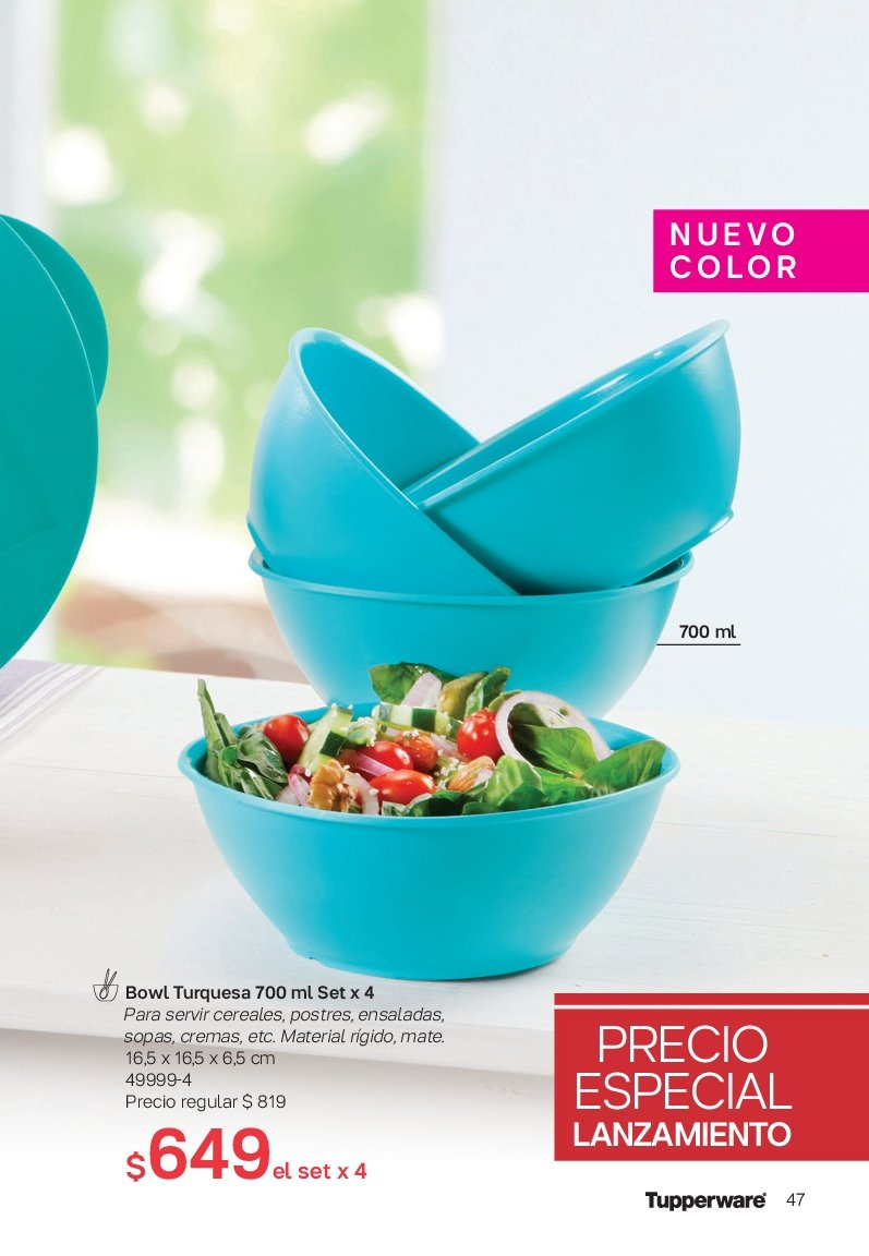 Folleto actual Tupperware - Ventas - cereales. Página 47.