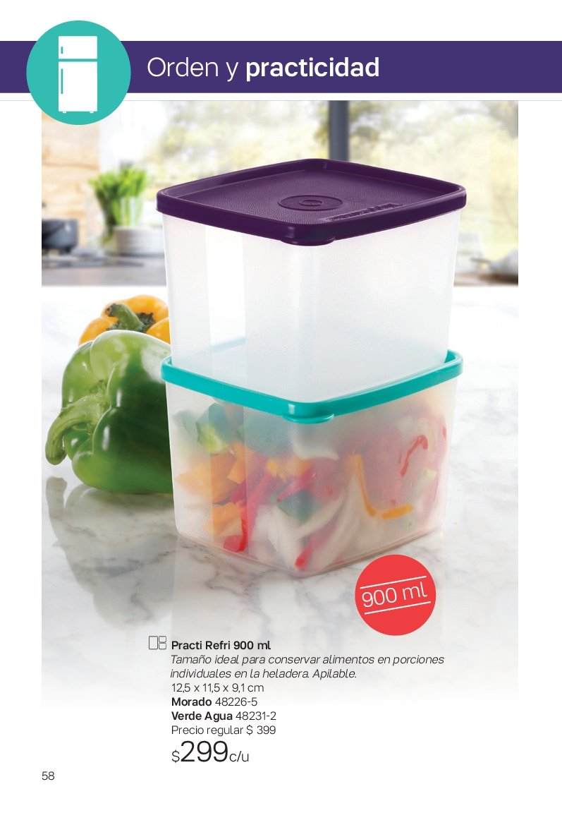 Folleto actual Tupperware - Ventas - frigorífico, heladera. Página 58.