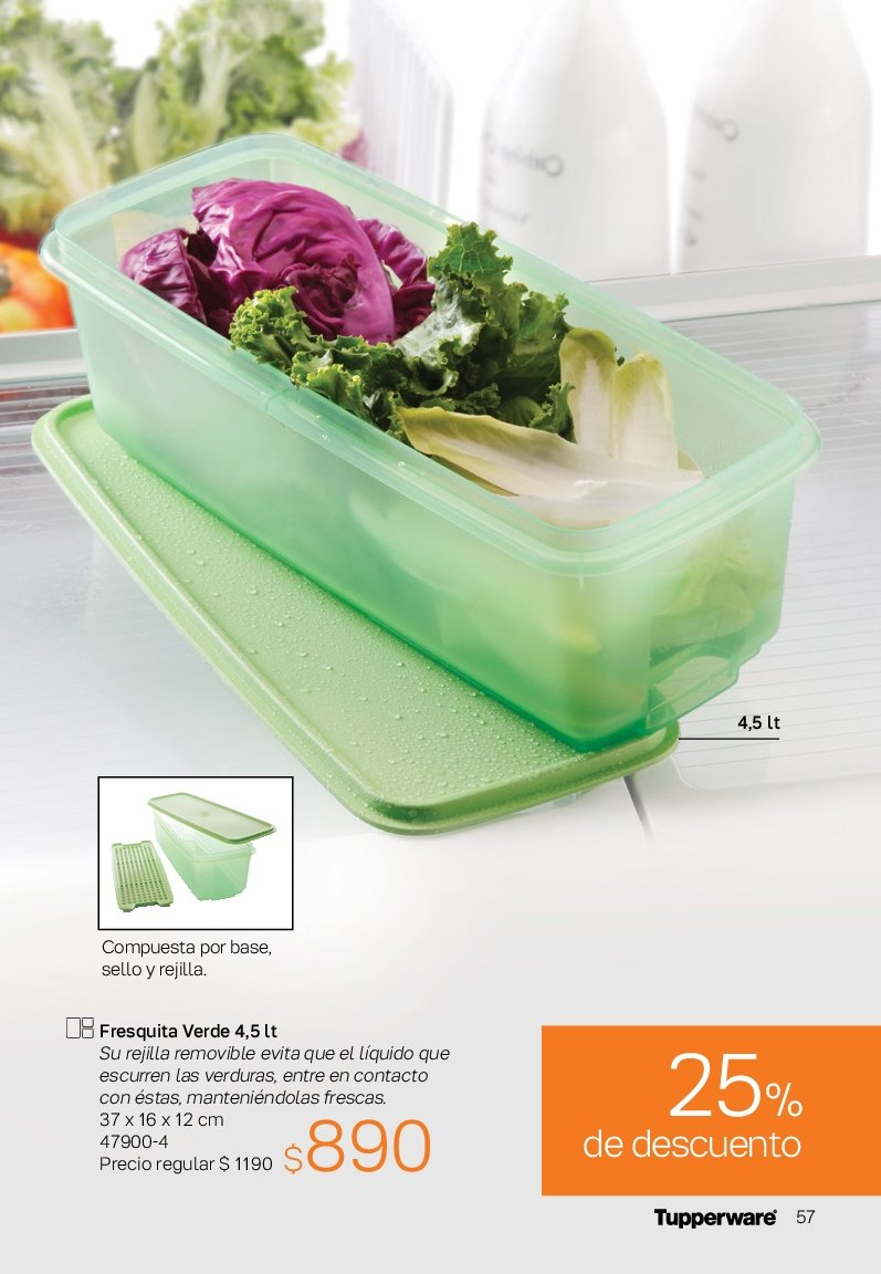 Folleto actual Tupperware - Ventas - verdura, fresquita. Página 57.