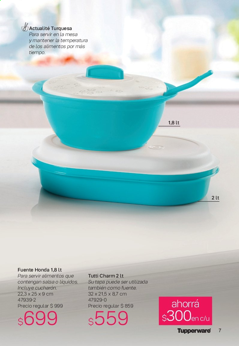 Folleto actual Tupperware - Ventas - salsa, mesa. Página 7.