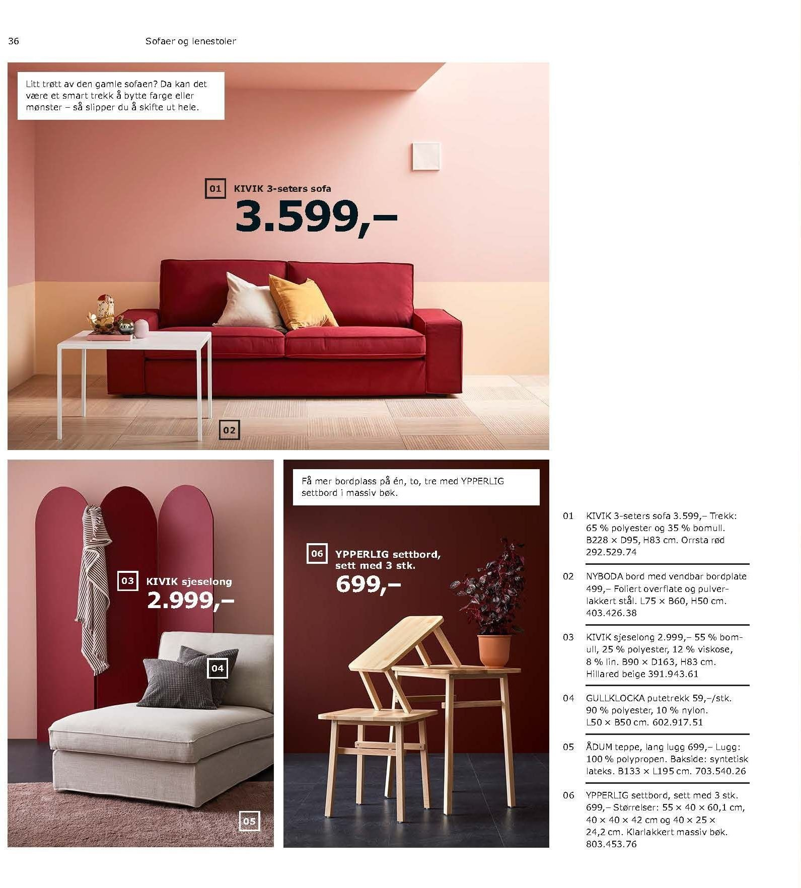 Kundeavis IKEA - 21.08.2018 - 11.08.2019. Side 36.