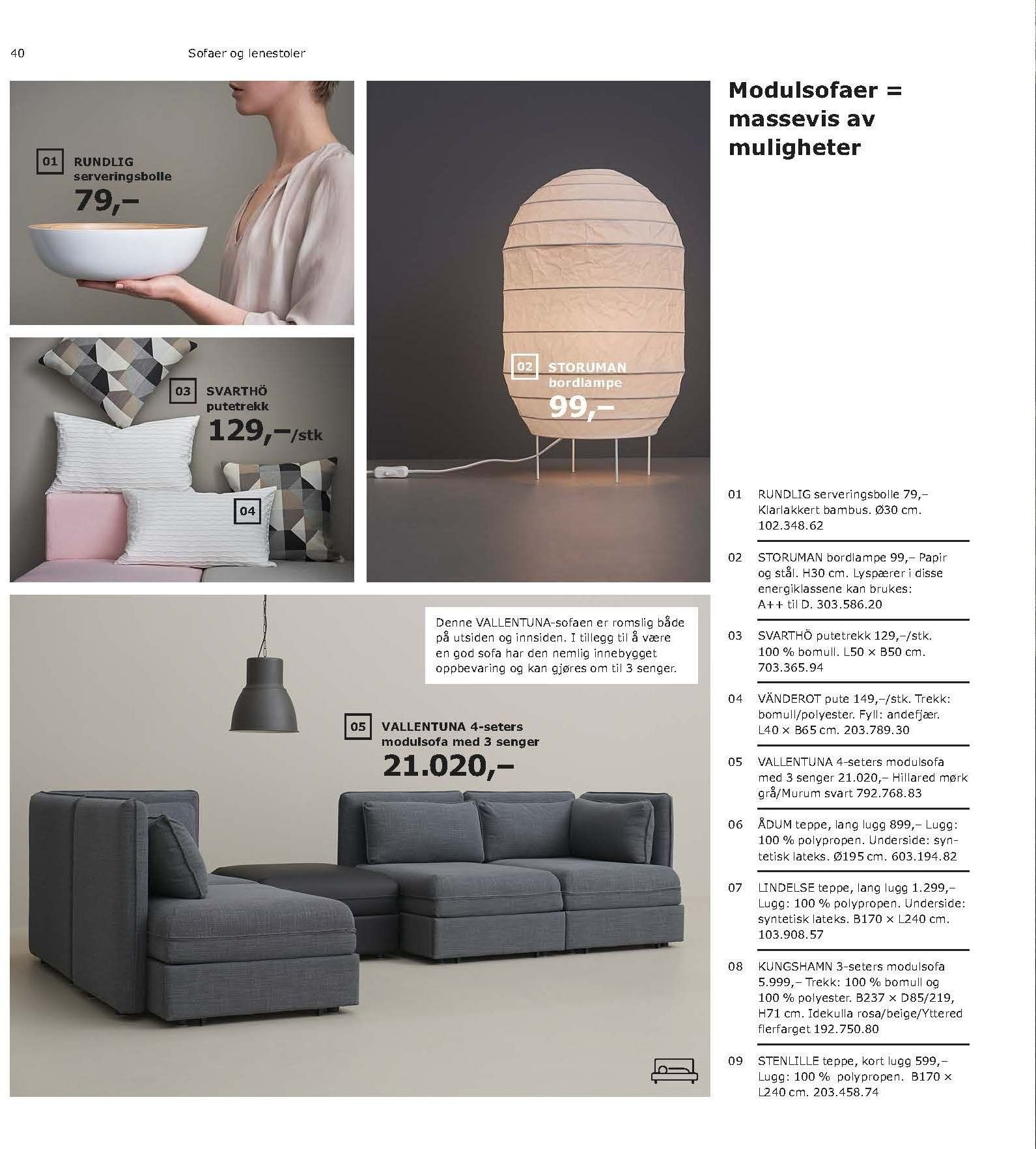 Kundeavis IKEA - 21.08.2018 - 11.08.2019. Side 40.