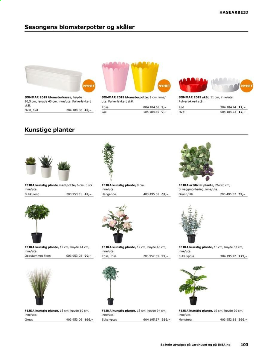 Kundeavis IKEA - 20.08.2018 - 31.08.2019. Side 103.