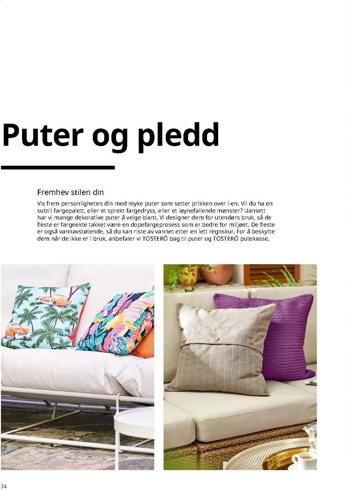 Kundeavis IKEA. Side 74.