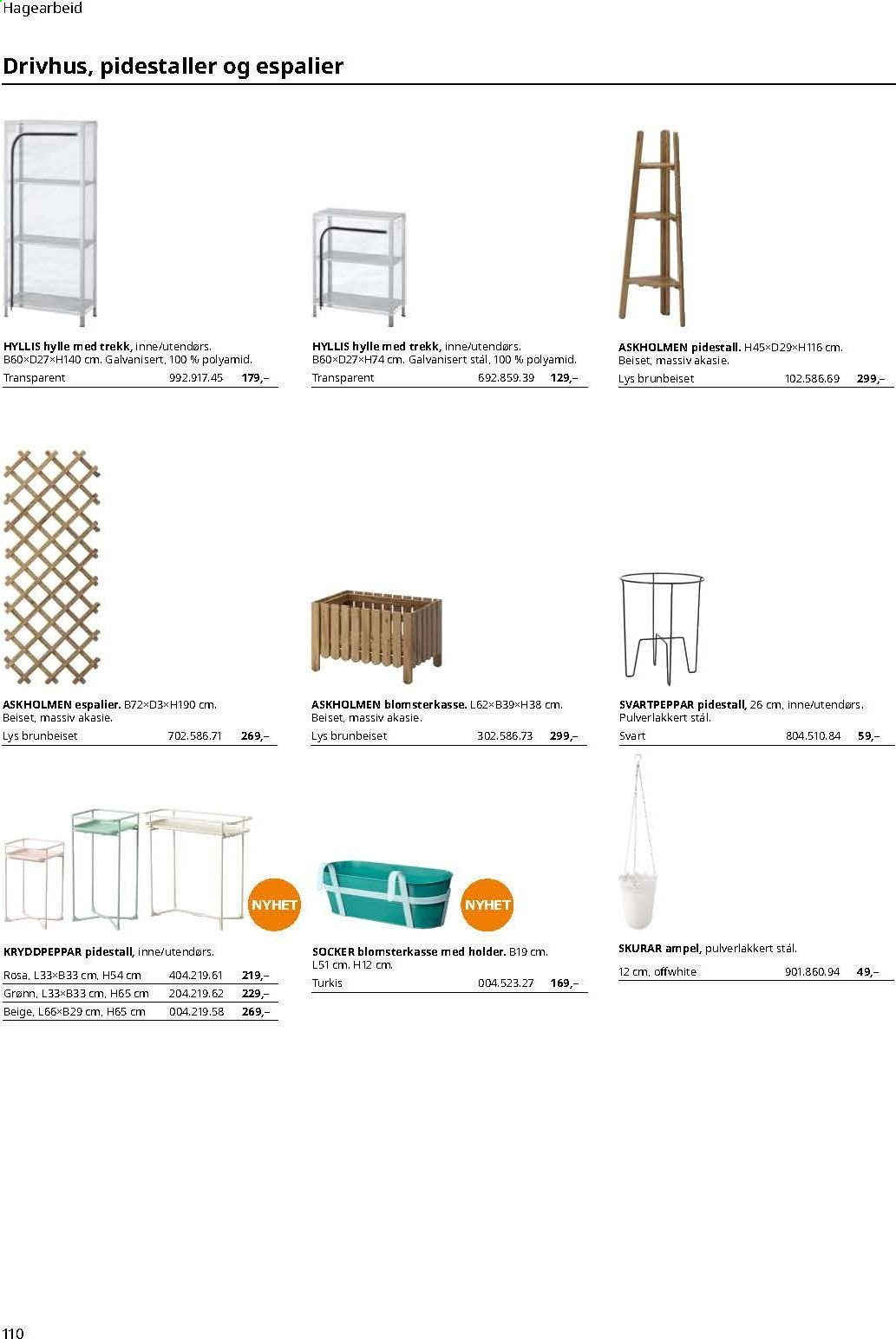 Kundeavis IKEA. Side 110.