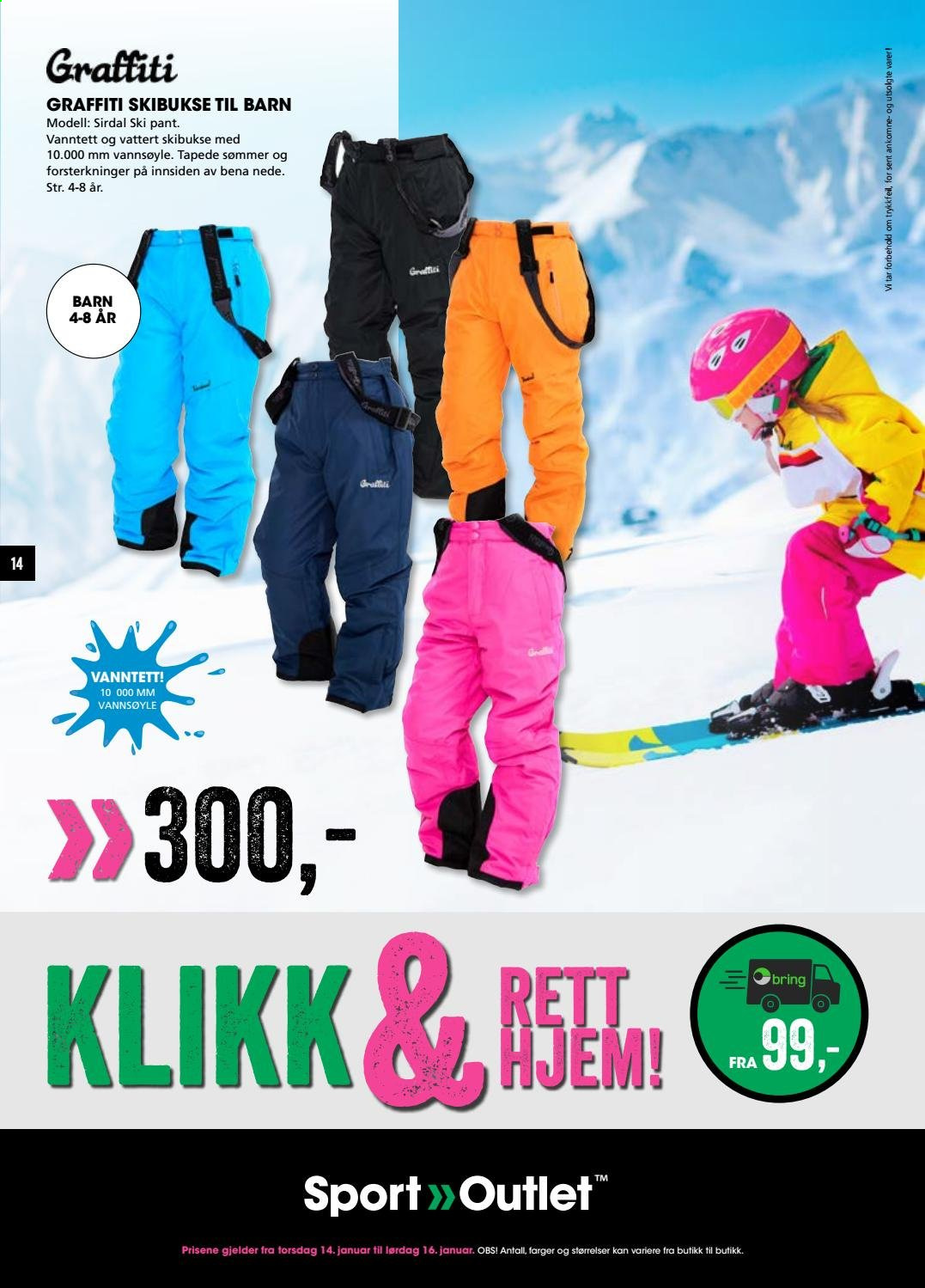 Kundeavis Sport Outlet - 14.01.2021 - 16.01.2021. Side 14.
