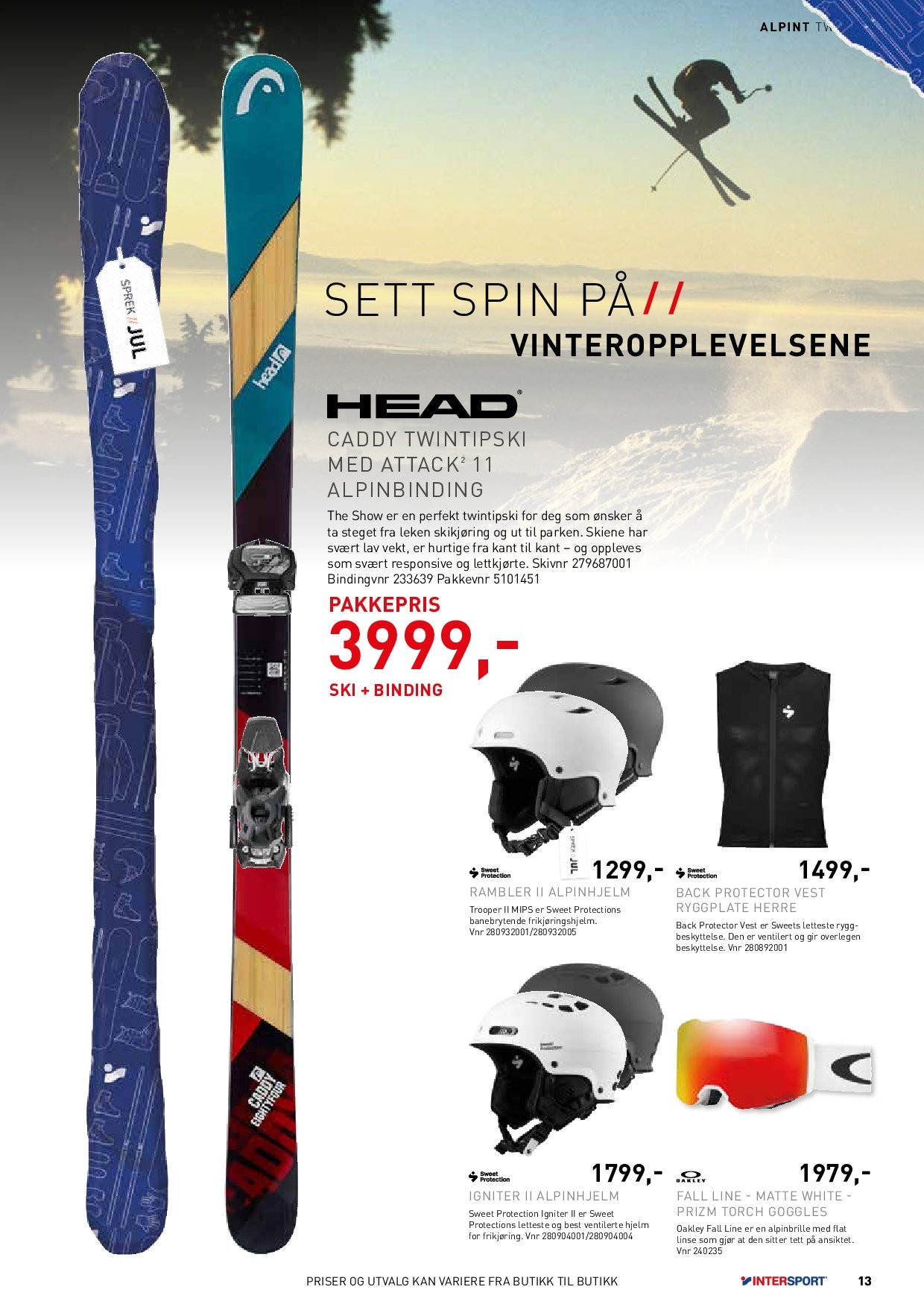 Kundeavis Intersport - 27.11.2018 - 24.12.2018. Side 13.