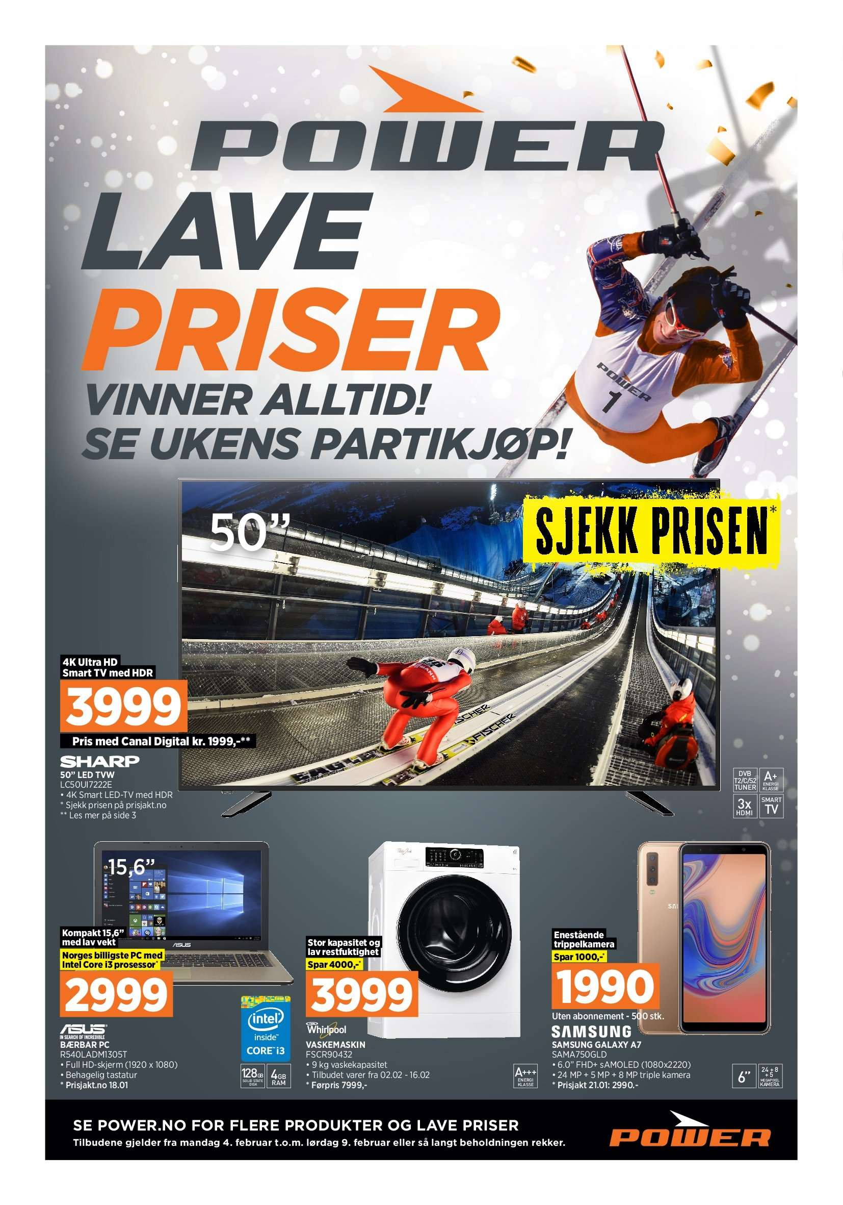 Kundeavis Power - 04.02.2019 - 09.02.2019. Side 1.
