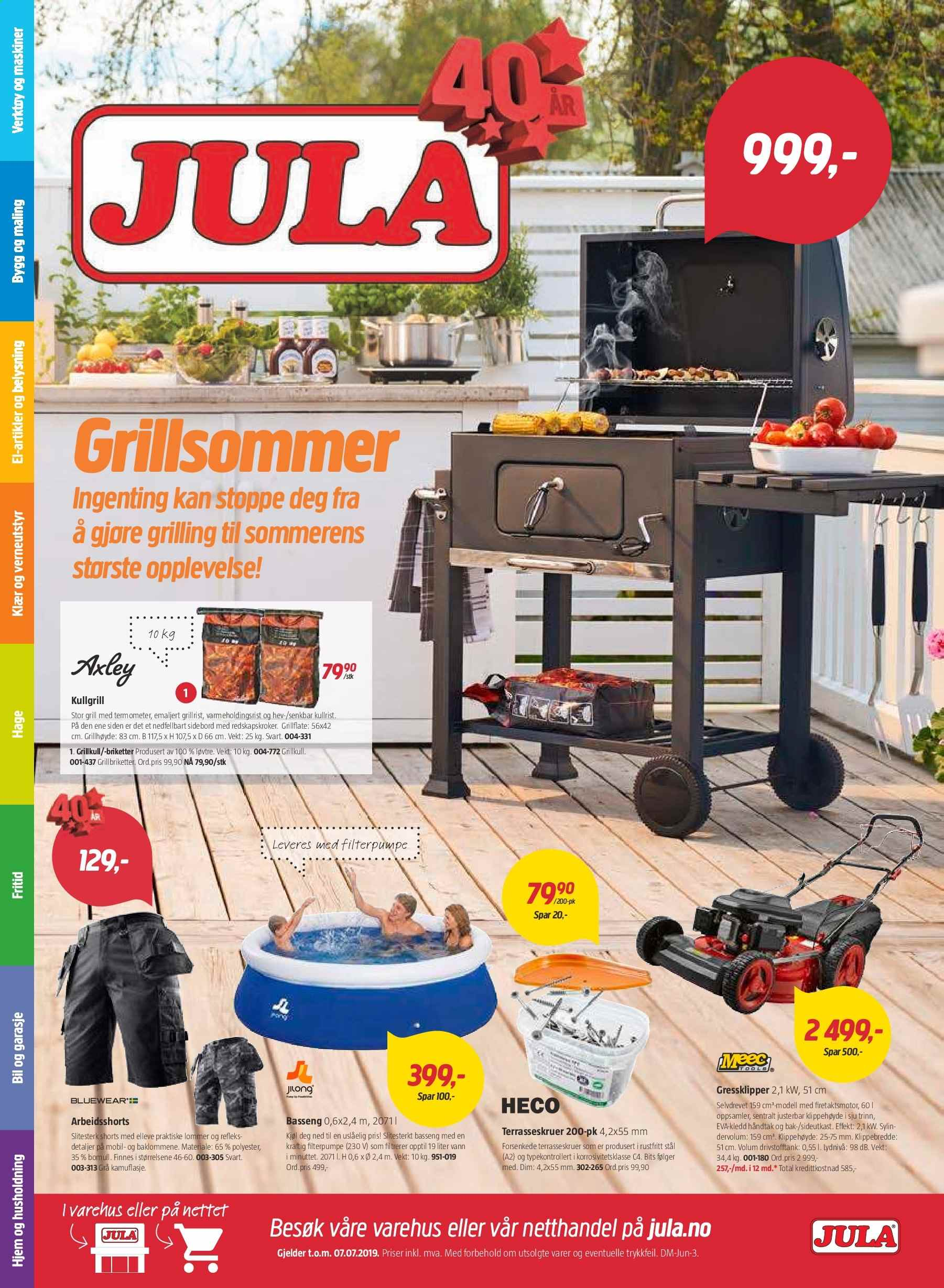 Kundeavis Jula - 21.06.2019 - 07.07.2019. Side 1.