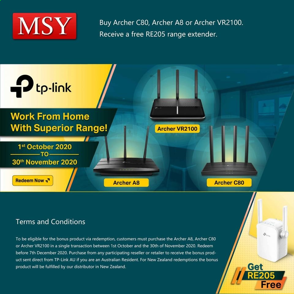 MSY Technology catalogue  - 1.10.2020 - 30.10.2020. Page 1.