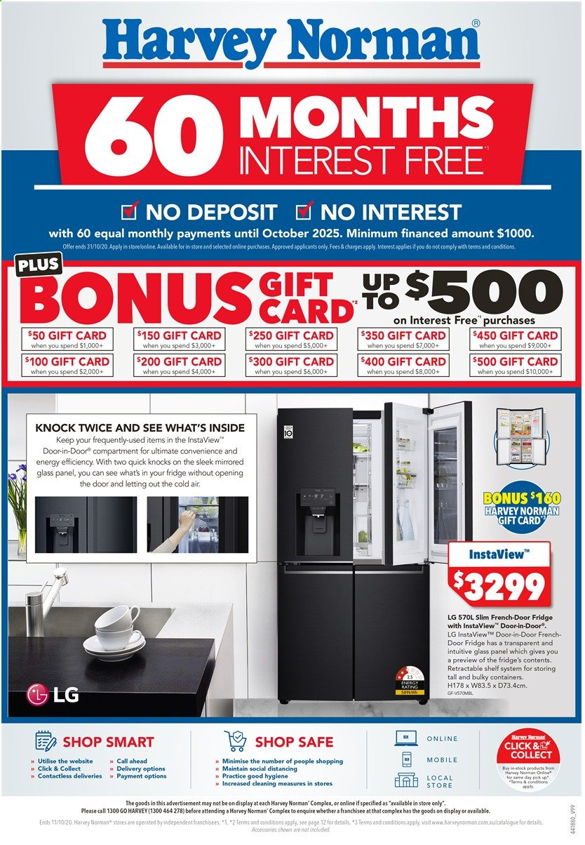 Harvey Norman catalogue  - 3.10.2020 - 11.10.2020. Page 1.