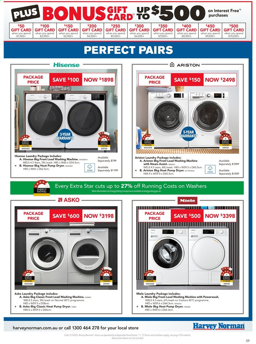 Harvey Norman catalogue  - 3.10.2020 - 11.10.2020. Page 9.