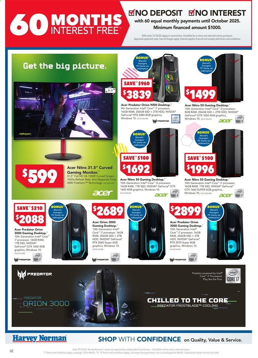 Harvey Norman catalogue  - 16.10.2020 - 19.10.2020. Page 2.