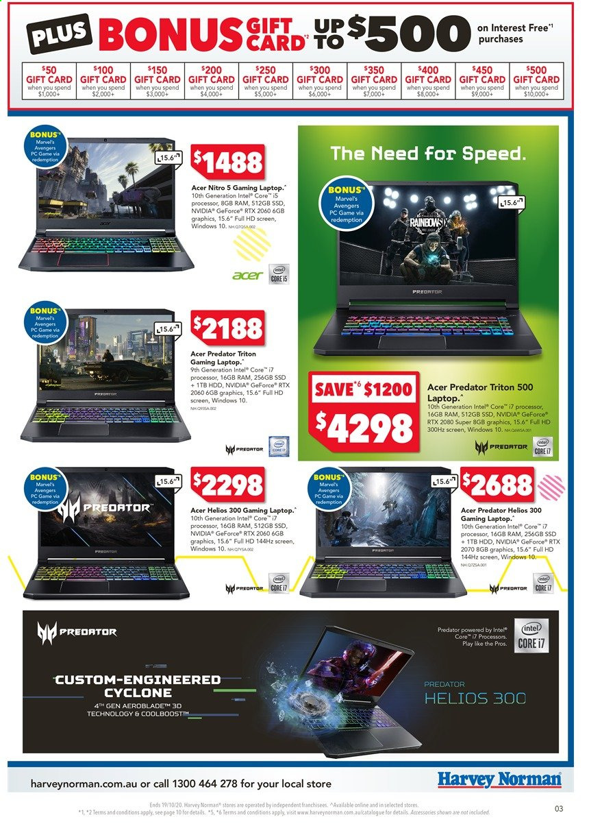Harvey Norman catalogue  - 16.10.2020 - 19.10.2020. Page 3.