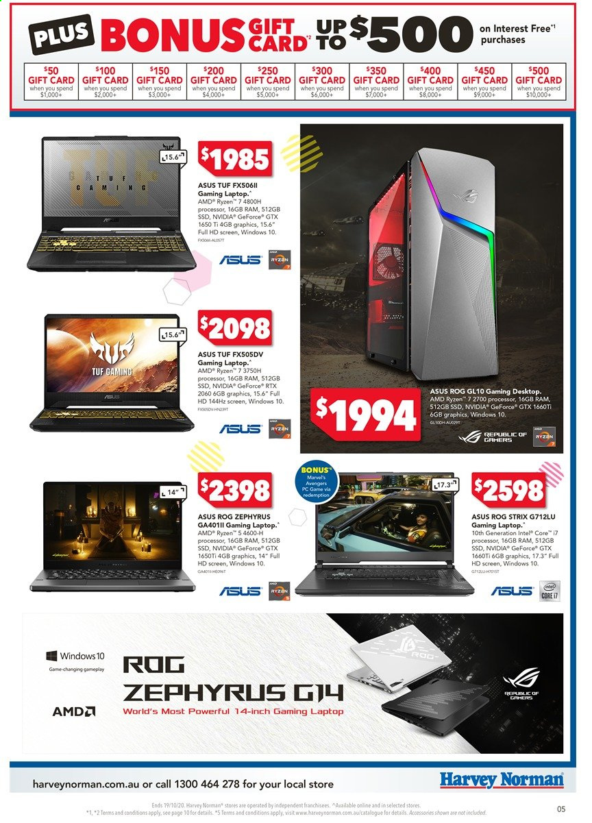 Harvey Norman catalogue  - 16.10.2020 - 19.10.2020. Page 5.