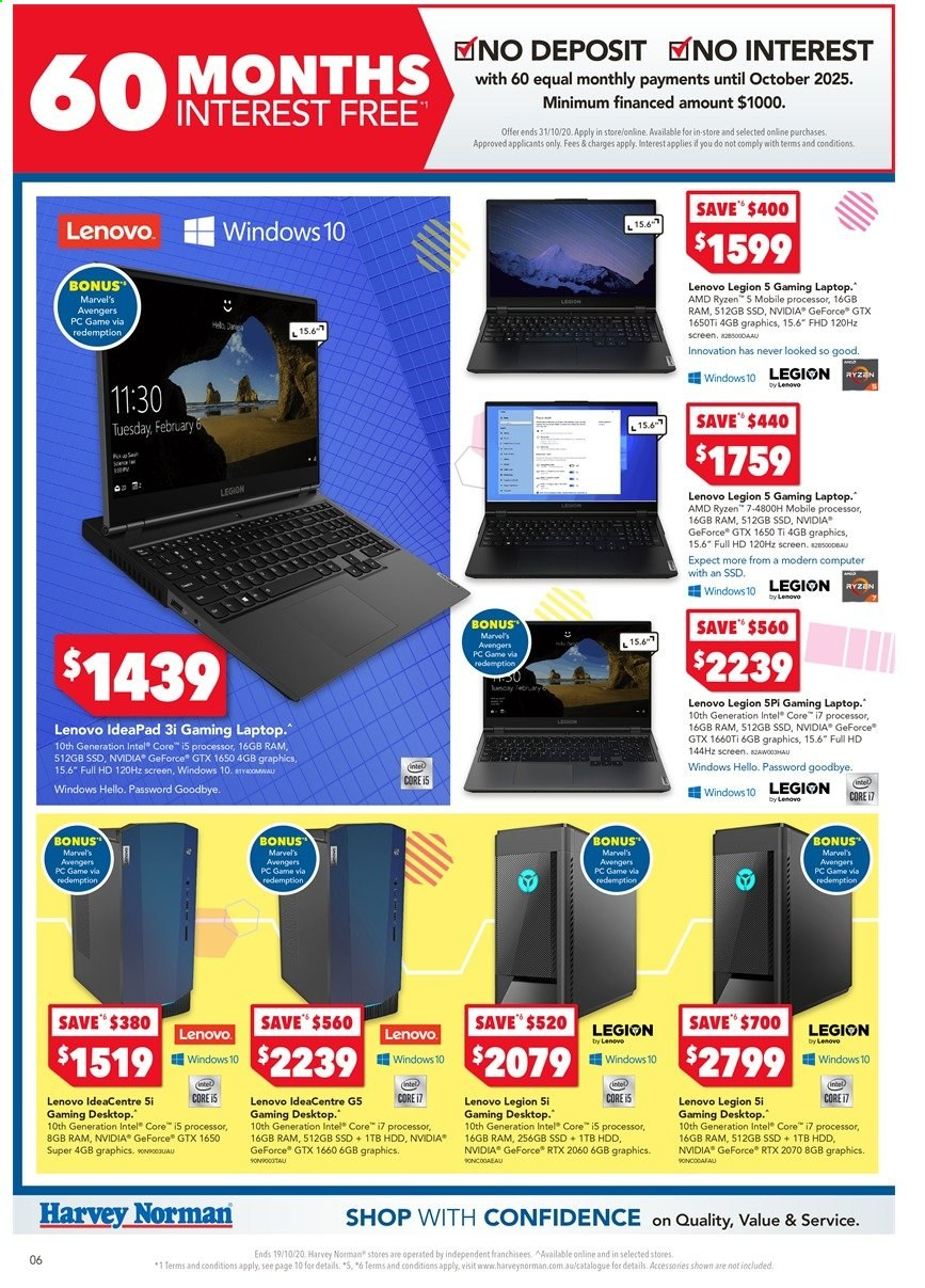 Harvey Norman catalogue  - 16.10.2020 - 19.10.2020. Page 6.