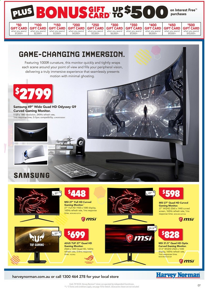 Harvey Norman catalogue  - 16.10.2020 - 19.10.2020. Page 7.