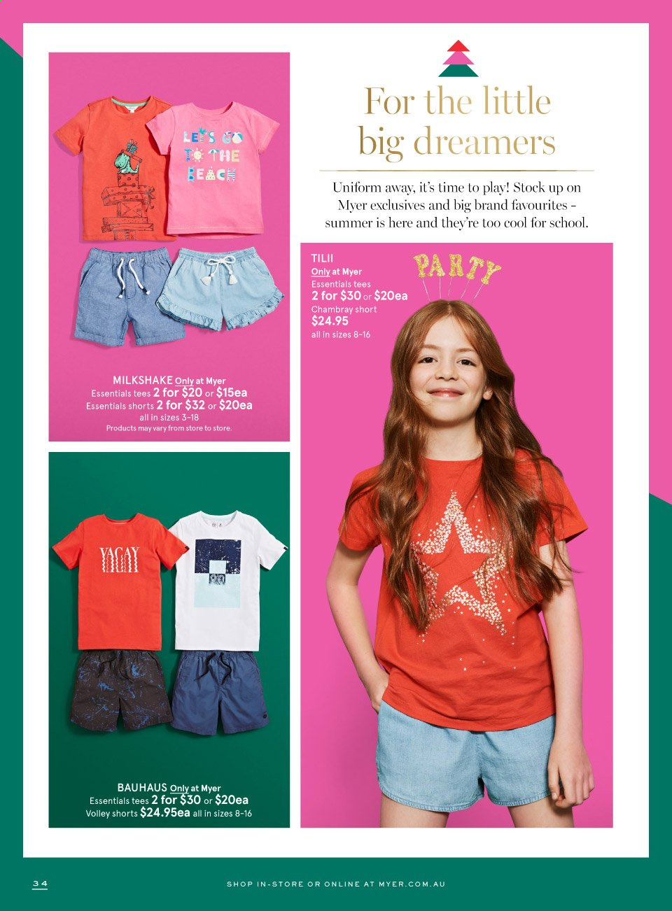 Myer catalogue  - 8.12.2020 - 24.12.2020. Page 34.