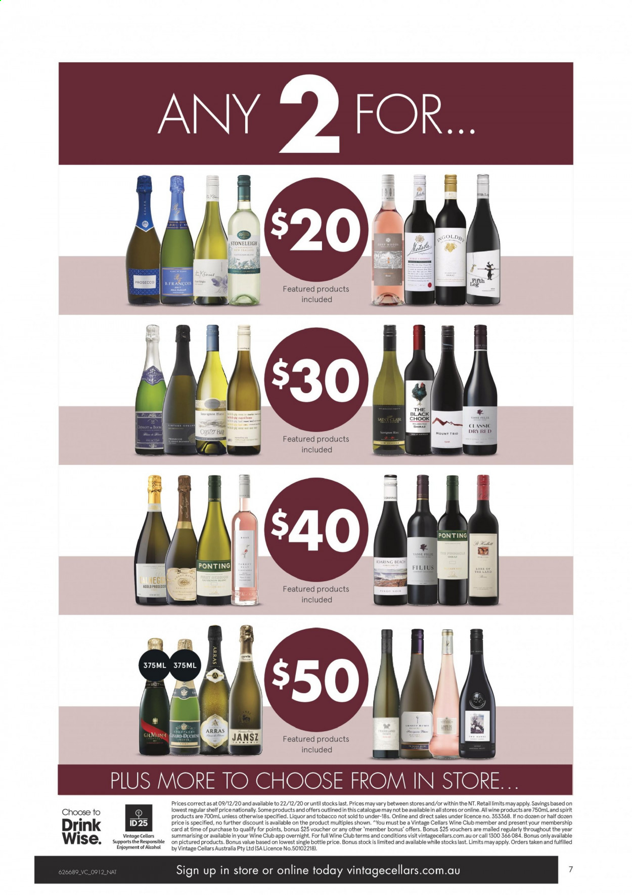 Vintage Cellars catalogue  - 9.12.2020 - 22.12.2020. Page 7.