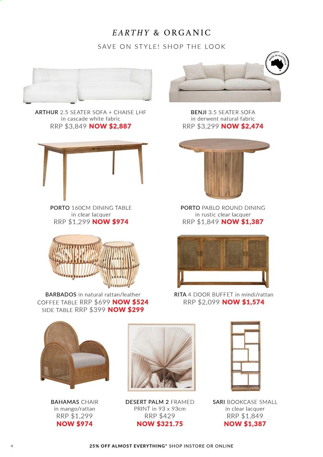 OZ Design Furniture catalogue . Page 4.
