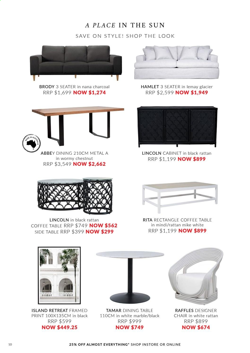OZ Design Furniture catalogue . Page 10.