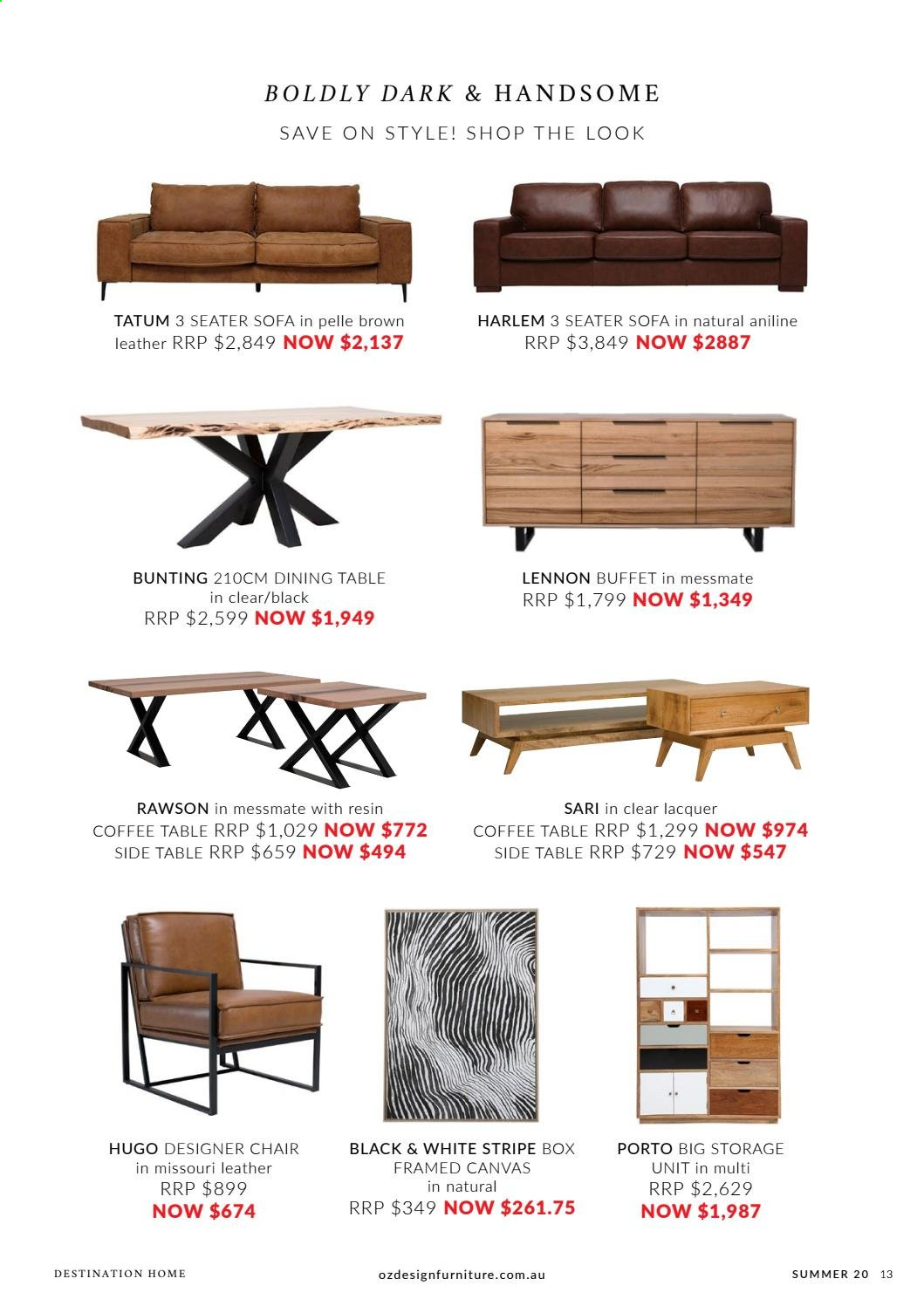 OZ Design Furniture catalogue . Page 13.