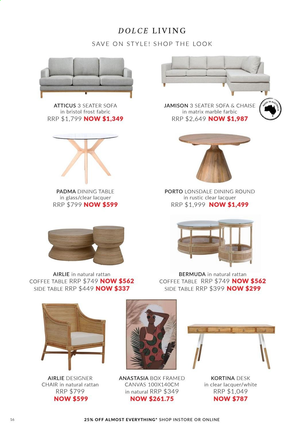 OZ Design Furniture catalogue . Page 16.