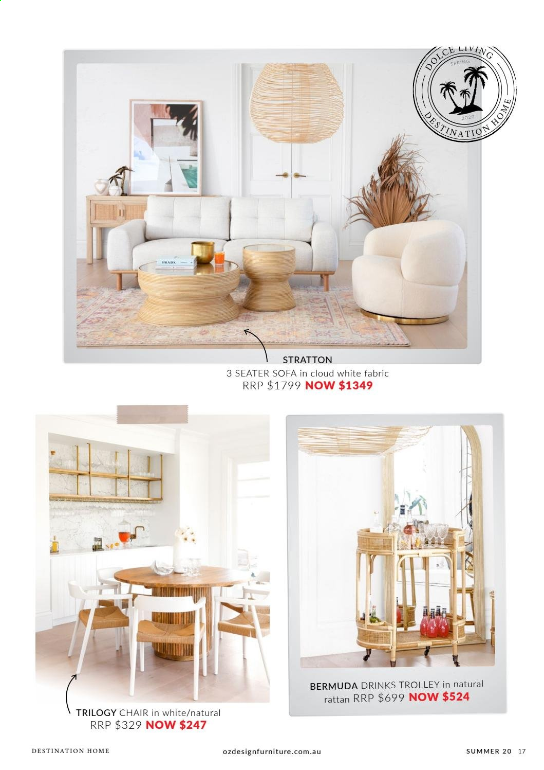 OZ Design Furniture catalogue . Page 17.