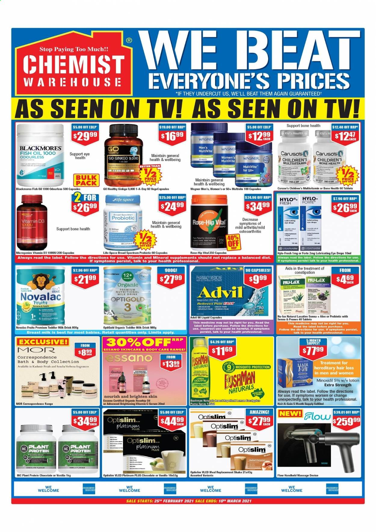 Chemist Warehouse catalogue  - 25.2.2021 - 10.3.2021. Page 3.