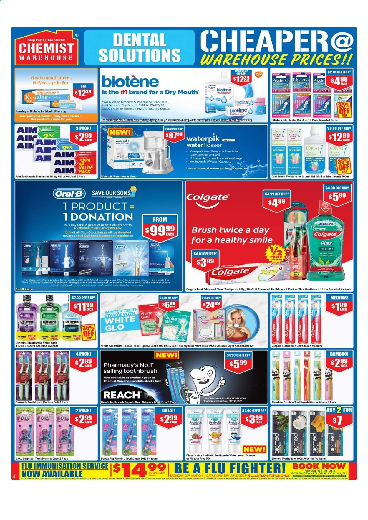 Chemist Warehouse catalogue  - 25.2.2021 - 10.3.2021. Page 4.