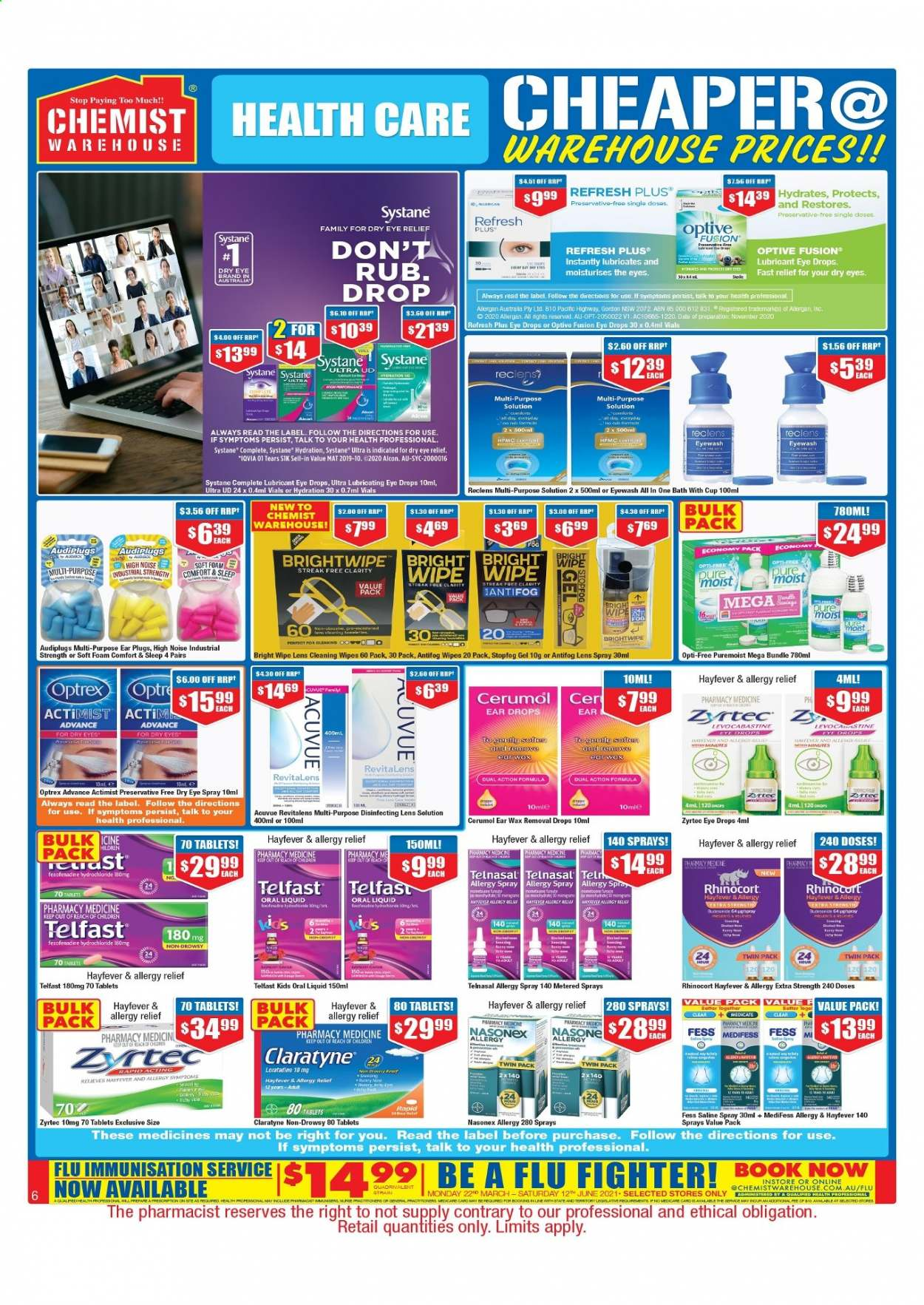Chemist Warehouse catalogue  - 25.2.2021 - 10.3.2021. Page 6.