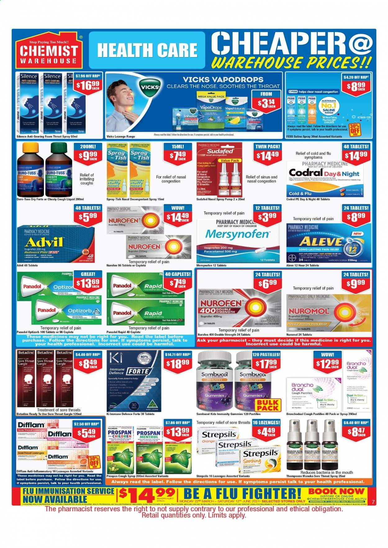 Chemist Warehouse catalogue  - 25.2.2021 - 10.3.2021. Page 7.