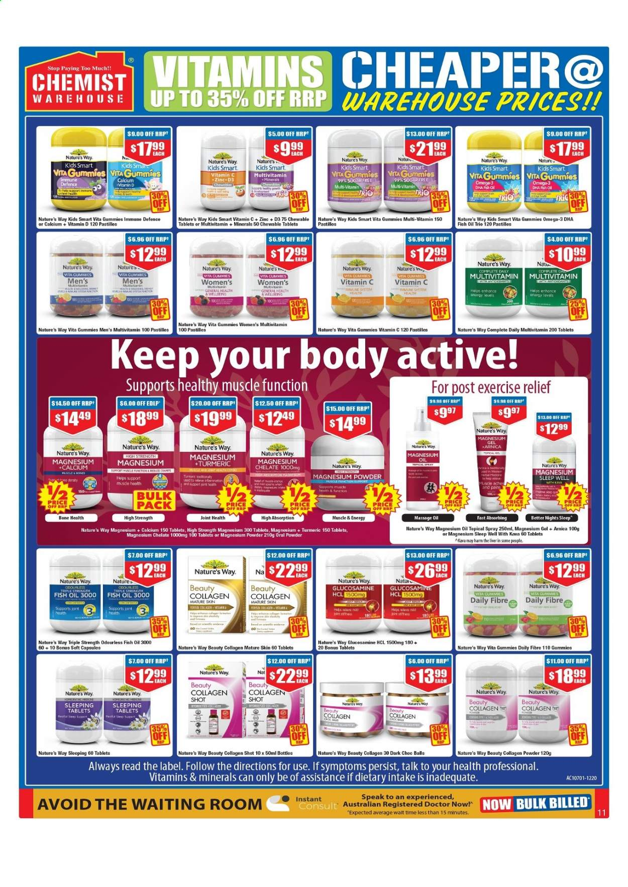 Chemist Warehouse catalogue  - 25.2.2021 - 10.3.2021. Page 11.