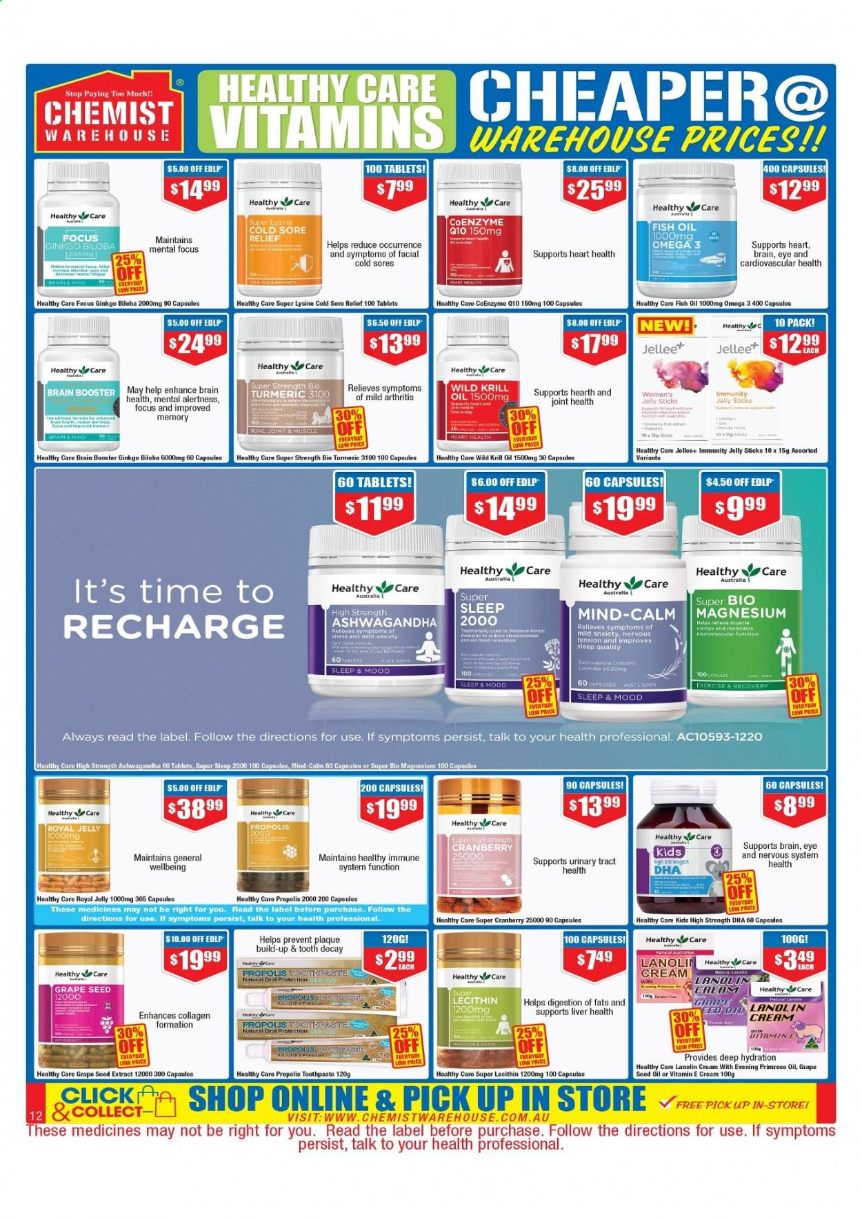 Chemist Warehouse catalogue  - 25.2.2021 - 10.3.2021. Page 12.