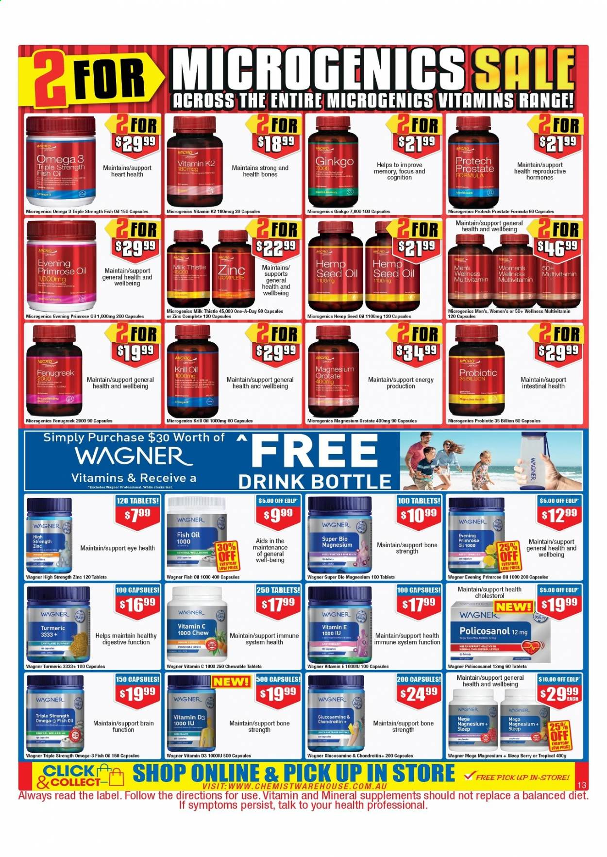 Chemist Warehouse catalogue  - 25.2.2021 - 10.3.2021. Page 13.