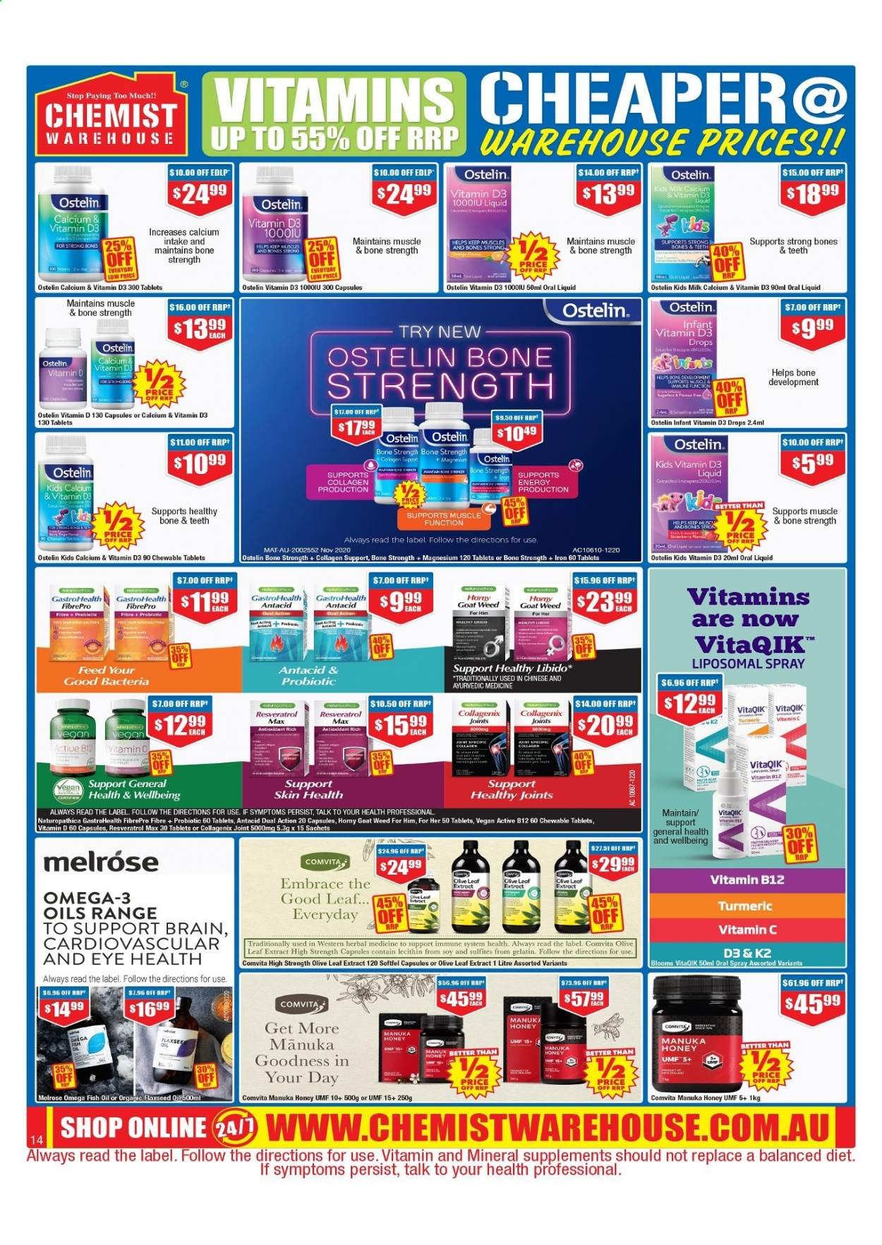 Chemist Warehouse catalogue  - 25.2.2021 - 10.3.2021. Page 14.