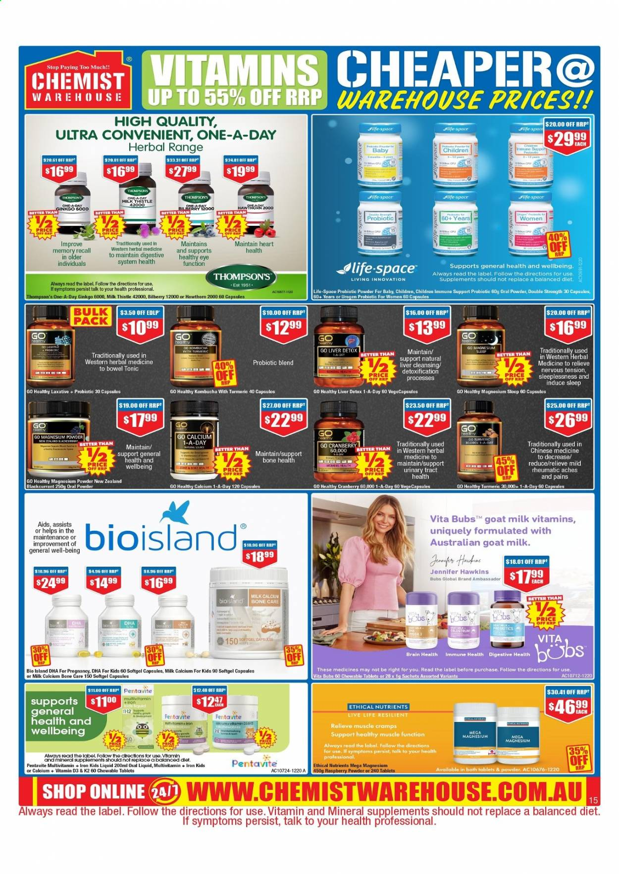 Chemist Warehouse catalogue  - 25.2.2021 - 10.3.2021. Page 15.