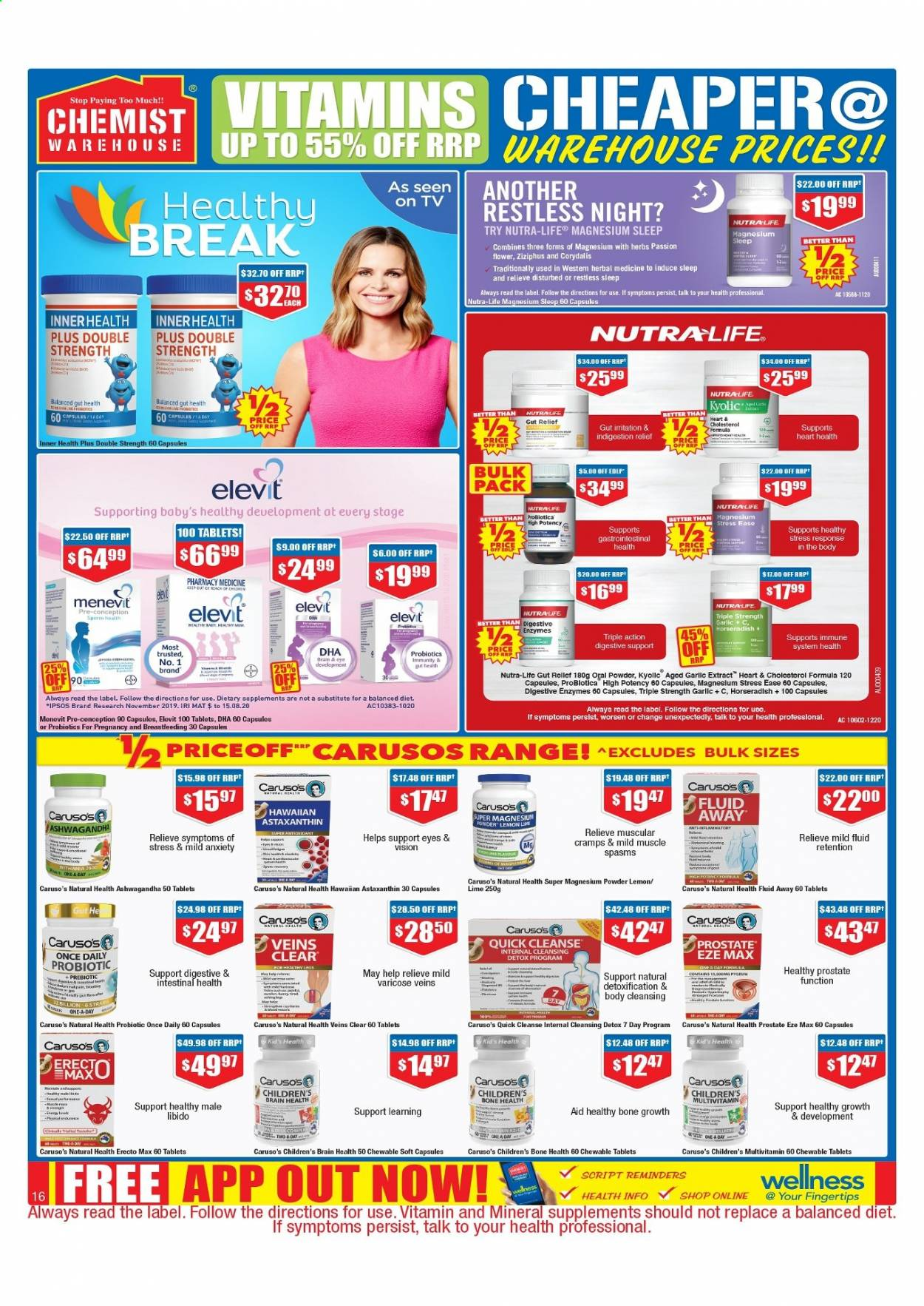 Chemist Warehouse catalogue  - 25.2.2021 - 10.3.2021. Page 16.