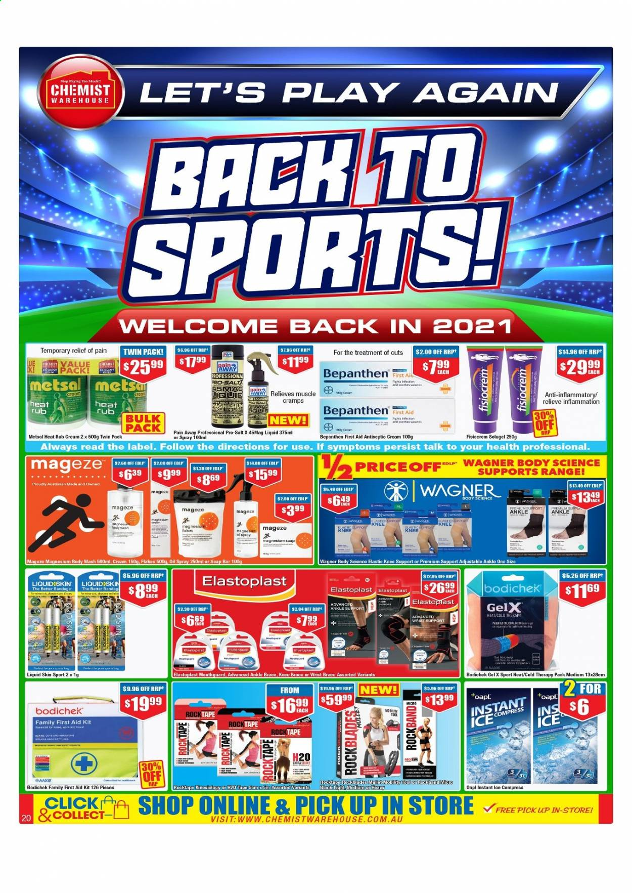 Chemist Warehouse catalogue  - 25.2.2021 - 10.3.2021. Page 20.