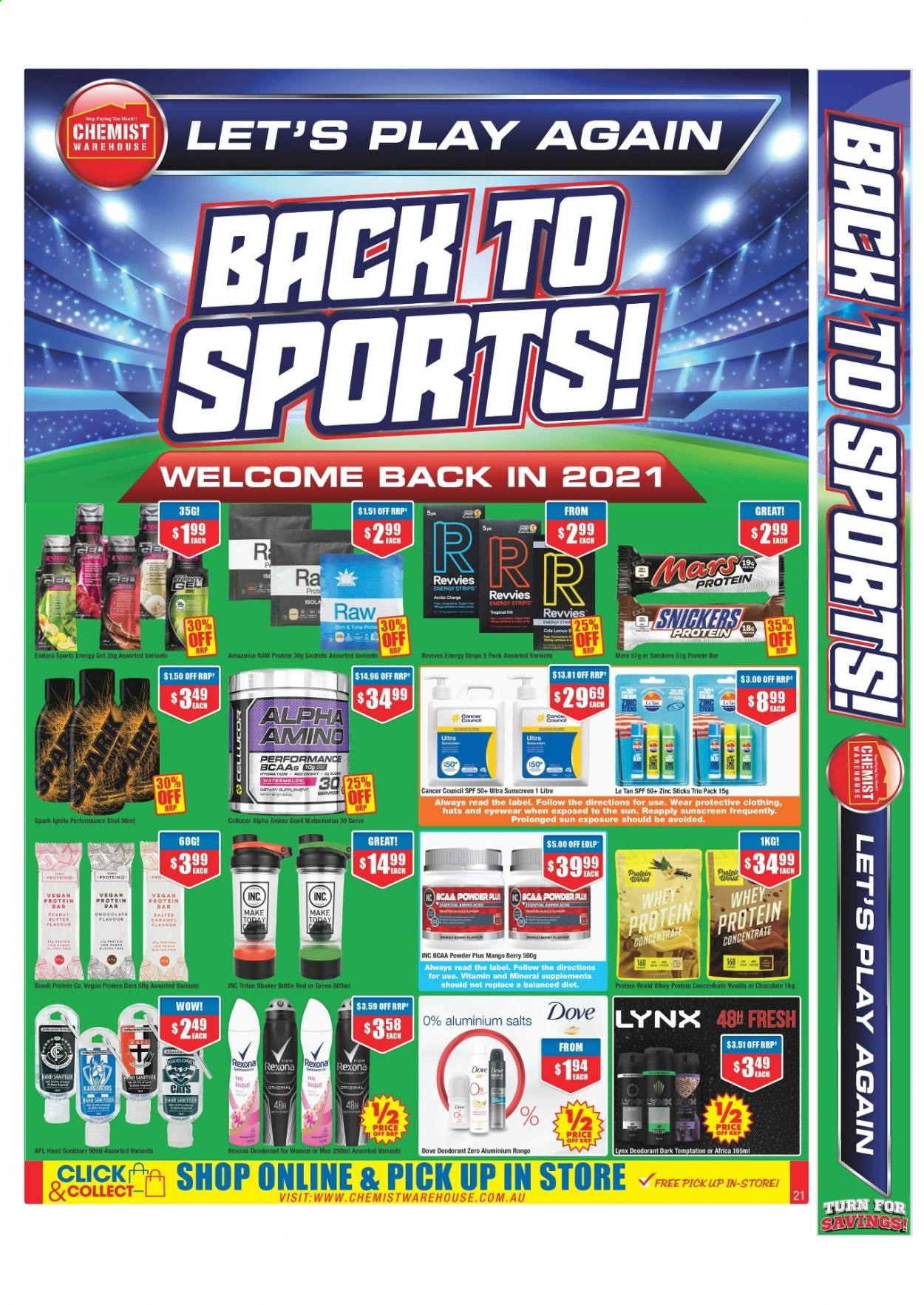 Chemist Warehouse catalogue  - 25.2.2021 - 10.3.2021. Page 21.
