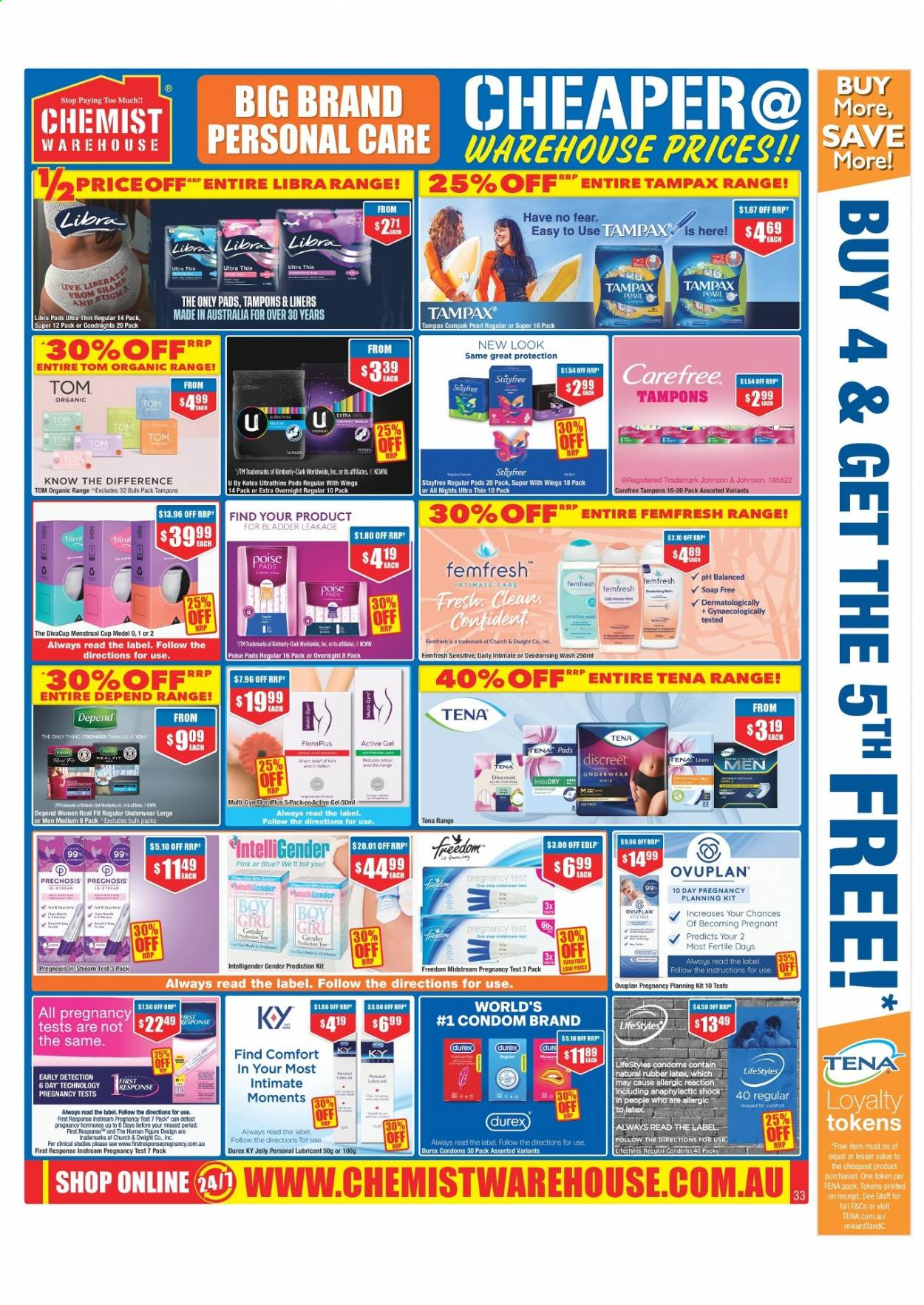 Chemist Warehouse catalogue  - 25.2.2021 - 10.3.2021. Page 33.