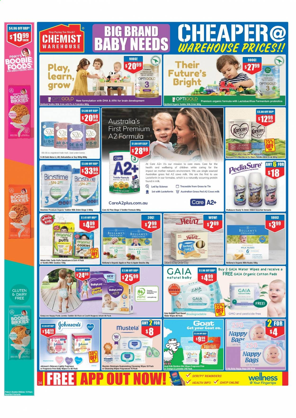 Chemist Warehouse catalogue  - 25.2.2021 - 10.3.2021. Page 34.