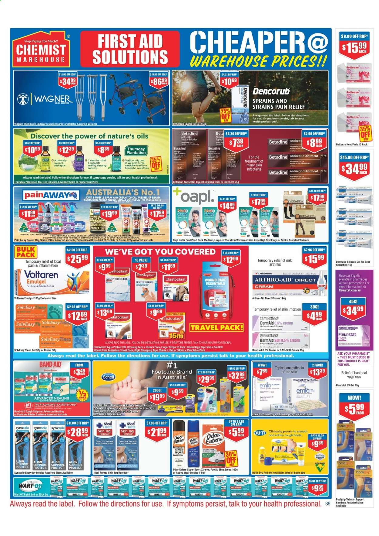 Chemist Warehouse catalogue  - 25.2.2021 - 10.3.2021. Page 39.