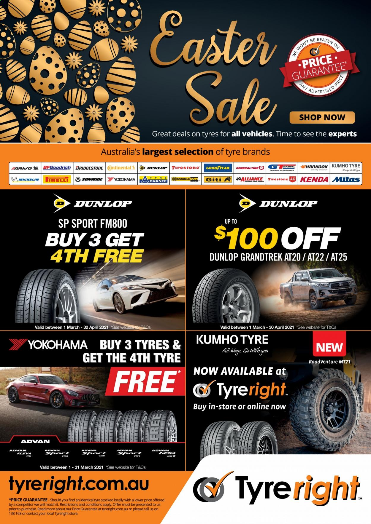 Tyreright catalogue  - 1.3.2021 - 30.4.2021. Page 1.