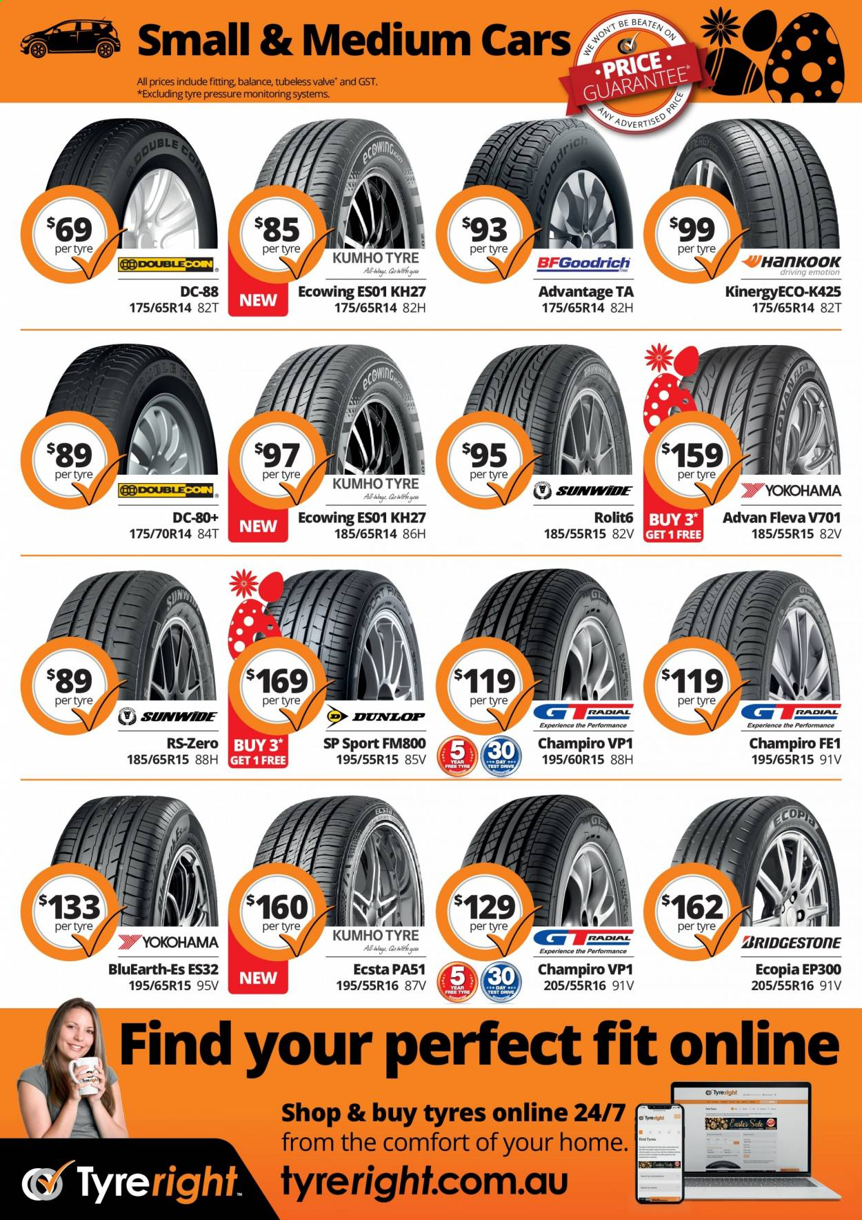 Tyreright catalogue  - 1.3.2021 - 30.4.2021. Page 2.
