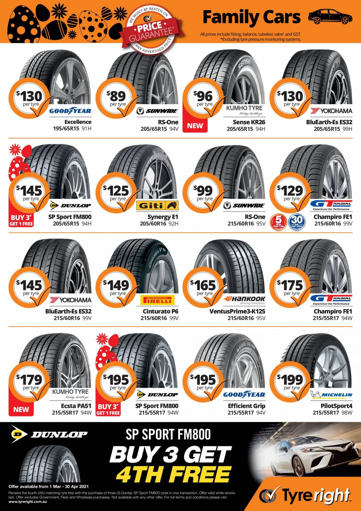 Tyreright catalogue  - 1.3.2021 - 30.4.2021. Page 3.
